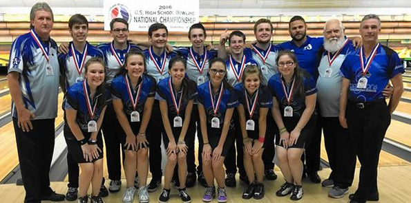 Apopka Boys  & Circle Christian Girls are both from Florida and are both Team National Champions - 2016 U.S. High School Bowling National Championship, Tamarac, Florida (hosted by the U.S. High School Bowling Foundation - www.ushsbf.org)